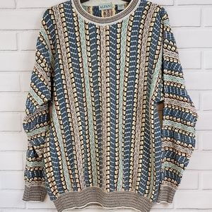 Vintage Alfani Made in Italy Coogi Style Sweater